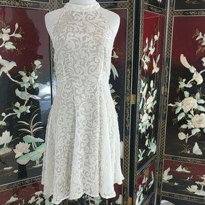 Arc & Co flirty white dress women's large
